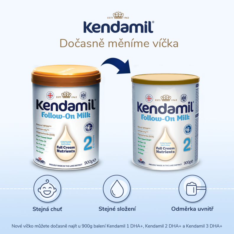 Nová víčka Kendamil
